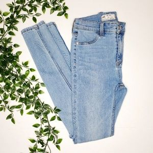 Free People 26 Light High Waist Skinny Jeans